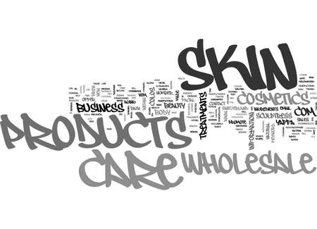 WHOLESALE SKIN CARE PRODUCTS TEXT WORD CLOUD CONCEPT