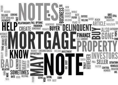 WHAT YOU MAY NOT KNOW ABOUT YOUR MORTGAGE NOTE TEXT WORD CLOUD CONCEPT Vetores