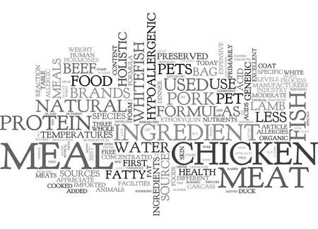 WHERE S THE MEAT IN MY PETS FOOD TEXT WORD CLOUD CONCEPT