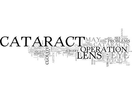 WHAT YOU MUST KNOW ABOUT CATARACT SURGERY TEXT WORD CLOUD CONCEPT