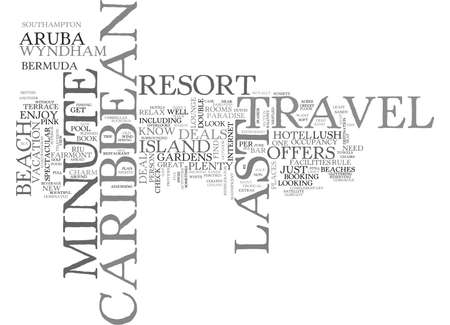gat: WHERE TO FIND LAST MINUTE CARIBBEAN TRAVEL DEALS TEXT WORD CLOUD CONCEPT