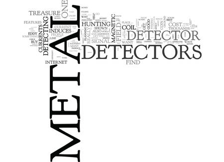 WHERE TO FIND METAL DETECTORS TEXT WORD CLOUD CONCEPT