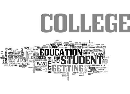 WHERE TO FIND STUDENT LOANS FOR COLLEGE TEXT WORD CLOUD CONCEPT