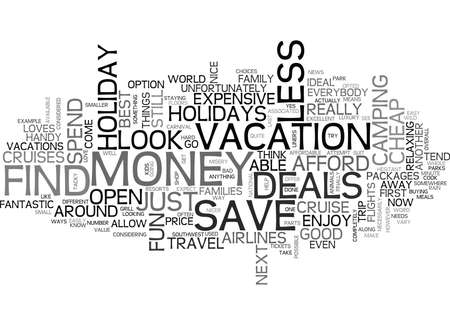 WHERE TO FIND THE BEST HOLIDAY DEALS TEXT WORD CLOUD CONCEPT