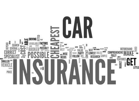 beforehand: WHERE TO FIND THE CHEAPEST CAR INSURANCE TEXT WORD CLOUD CONCEPT