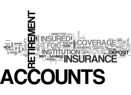 について知って何が退職アカウント テキスト WORD クラウドの概念はのための FDIC 保険に増加