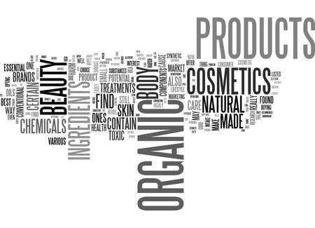 テキスト WORD クラウドの概念はオーガニック化粧品について