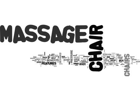 WHAT TO LOOK FOR IN A GOOD HOME MASSAGE CHAIR TEXT WORD CLOUD CONCEPT
