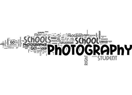 WHERE TO GO TO LEARN FROM THE PHOTOGRAPHY MASTERS TEXT WORD CLOUD CONCEPT
