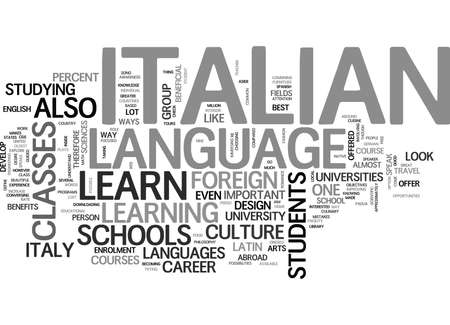 immensely: WHERE TO LEARN ITALIAN TEXT WORD CLOUD CONCEPT