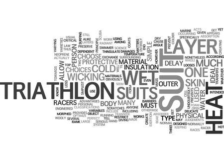 WHAT YOU MUST KNOW ABOUT TRIATHLON SUIT TEXT WORD CLOUD CONCEPT Ilustrace