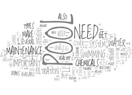 performed: WHAT YOU NEED FOR YOUR POOL TEXT WORD CLOUD CONCEPT