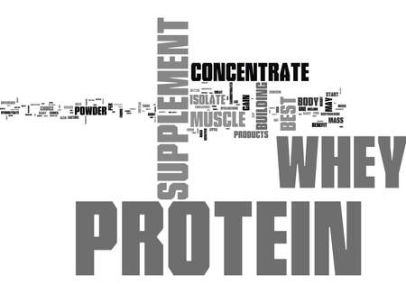 WHEY PROTEIN CONCENTRATE IS THIS THE BEST PROTEIN TEXT WORD CLOUD CONCEPT