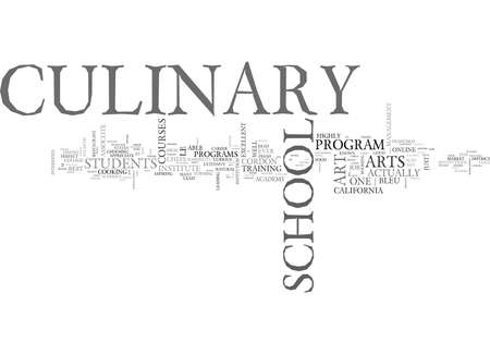 WHICH CULINARY SCHOOL IS RIGHT FOR YOU TEXT WORD CLOUD CONCEPT  イラスト・ベクター素材