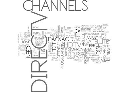 WHICH DIRECTV HARDWARE SETUP IS BEST TEXT WORD CLOUD CONCEPT Illustration