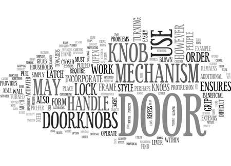 recess: WHICH DOOR HANDLE SHOULD YOU CHOOSE TEXT WORD CLOUD CONCEPT