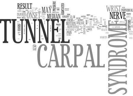 WHAT YOU NEED TO KNOW ABOUT CARPAL TUNNEL SYNDROME TEXT WORD CLOUD CONCEPT