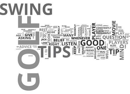 どのゴルフのヒント テキスト クラウドの概念は言葉に耳を傾ける必要があります  イラスト・ベクター素材