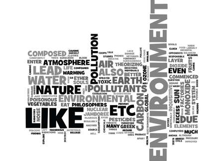 WHAT YOU NEED TO KNOW ABOUT ENVIRONMENTAL THREATS TEXT WORD CLOUD CONCEPT