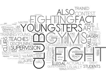 matter: WHAT YOU NEED TO KNOW ABOUT FIGHT CLUB GYMS FOR KIDS TEXT WORD CLOUD CONCEPT