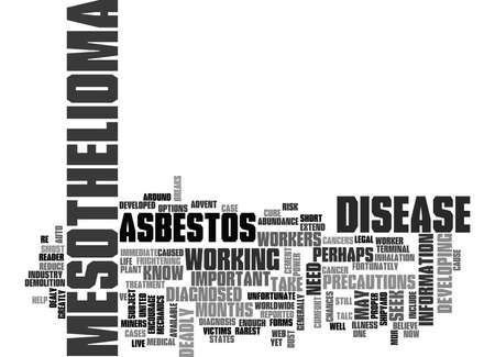 fortunately: WHAT YOU NEED TO KNOW ABOUT MESOTHELIOMA TEXT WORD CLOUD CONCEPT