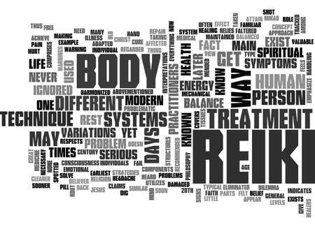 WHAT YOU NEED TO KNOW ABOUT REIKI TREATMENT TEXT WORD CLOUD CONCEPT Banco de Imagens - 79618674