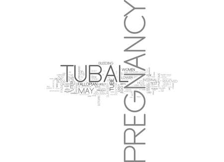 WHAT YOU NEED TO KNOW ABOUT TUBAL PREGNANCY TEXT WORD CLOUD CONCEPT