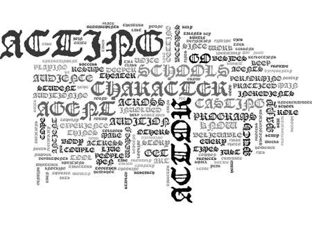 WHAT YOU NEED TO KNOW AS AN ACTOR TEXT WORD CLOUD CONCEPT