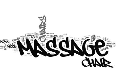 WHAT YOU NEED TO KNOW BEFORE YOU BUY A MASSAGE CHAIR TEXT WORD CLOUD CONCEPT