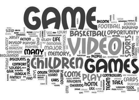 WHAT YOU NEED TO KNOW VIDEO GAMES TEXT WORD CLOUD CONCEPT Illustration