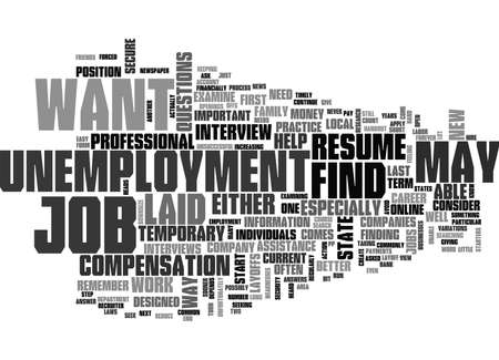 laid off: WHAT YOU SHOULD DO IF YOU ARE LAID OFF FROM YOUR JOB TEXT WORD CLOUD CONCEPT