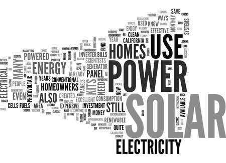 WHAT TO EXPECT FROM SOLAR POWER FOR HOMES TEXT WORD CLOUD CONCEPT