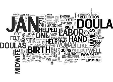 ingram: WHAT WOULD I DO WITHOUT MY DOULA TEXT WORD CLOUD CONCEPT Illustration