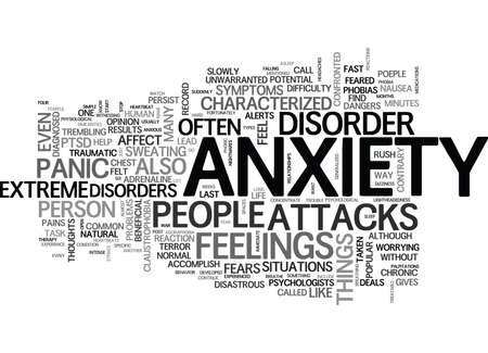 claustrophobia: WHAT YOU SHOULD KNOW ABOUT ANXIETY DISORDERS TEXT WORD CLOUD CONCEPT