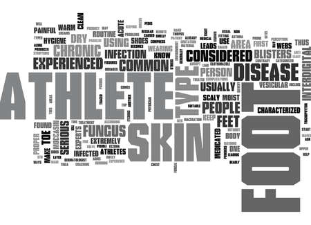 WHAT YOU SHOULD KNOW ABOUT ATHLETES FOOT TEXT WORD CLOUD CONCEPT