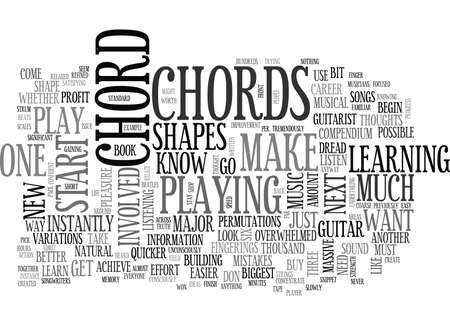 FREE GUITAR CHORD CHARTS Text Background Word Cloud Concept Royalty ...