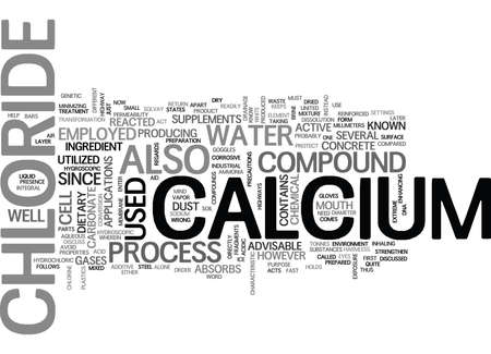 WHAT YOU SHOULD KNOW ABOUT CALCIUM CHLORIDE TEXT WORD CLOUD CONCEPT