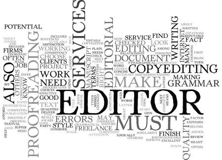 WHAT YOU SHOULD KNOW ABOUT EDITORIAL SERVICES TEXT WORD CLOUD CONCEPT