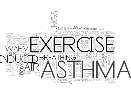 WHAT YOU SHOULD KNOW ABOUT EXERCISE INDUCED ASTHMA TEXT WORD CLOUD CONCEPT