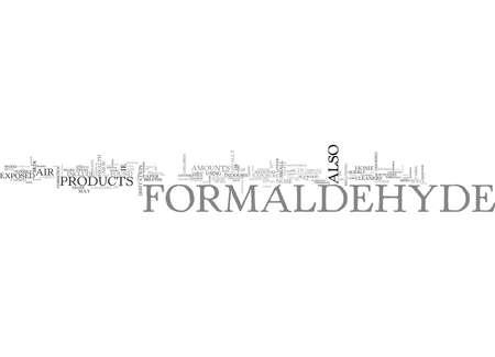 WHAT YOU SHOULD KNOW ABOUT FORMALDEHYDE TEXT WORD CLOUD CONCEPT Illusztráció