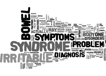 WHAT YOU SHOULD KNOW ABOUT IBS TEXT WORD CLOUD CONCEPT