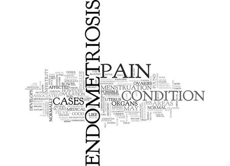 WHAT YOU SHOULD KNOW ABOUT INFERTILITY AND ENDOMETRIOSIS TEXT WORD CLOUD CONCEPT