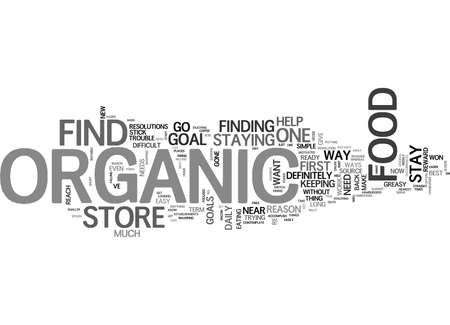 WHAT YOU SHOULD KNOW ABOUT ORGANIC FOOD STORE TEXT WORD CLOUD CONCEPT Иллюстрация