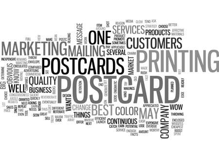 WHAT YOU SHOULD KNOW ABOUT POSTCARDS TEXT WORD CLOUD CONCEPT Çizim