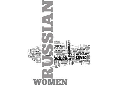 WHAT YOU SHOULD KNOW ABOUT RUSSIAN WOMEN TEXT WORD CLOUD CONCEPT