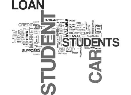 implies: WHAT YOU SHOULD KNOW ABOUT STUDENT CAR LOAN TEXT WORD CLOUD CONCEPT Illustration