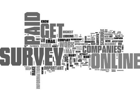 WHAT YOU SHOULD KNOW BEFORE YOU GET PAID FOR ONLINE SURVEY TEXT WORD CLOUD CONCEPT Çizim
