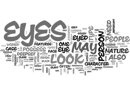 WHAT YOUR EYES CAN TELL ABOUT YOU TEXT WORD CLOUD CONCEPT