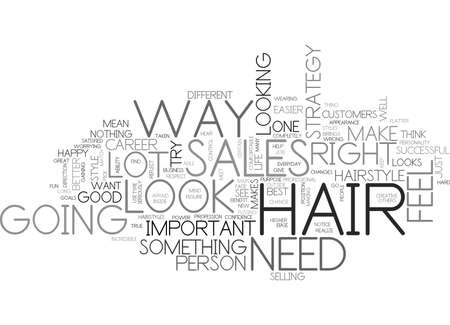 WHAT YOUR HAIR TEXT WORD CLOUD CONCEPT