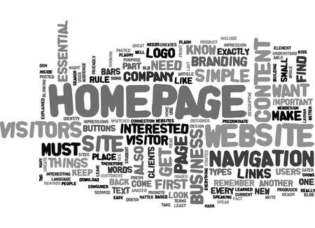 WHAT YOUR WEBSITE S HOMEPAGE NEEDS TO HAVE TEXT WORD CLOUD CONCEPT